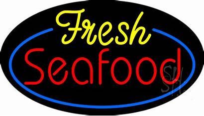 Seafood Fresh Neon Signs Animated