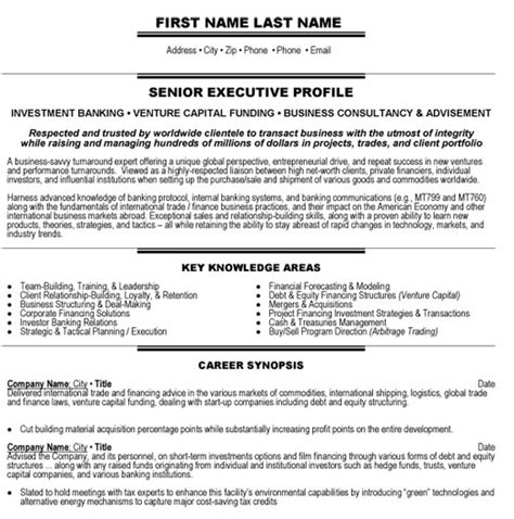 investment banking resume template top banking resume templates sles