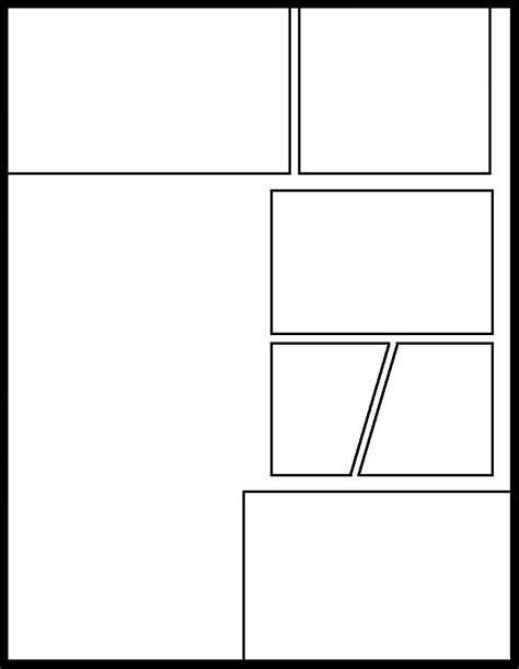 manga template   comic templates blank comic panels