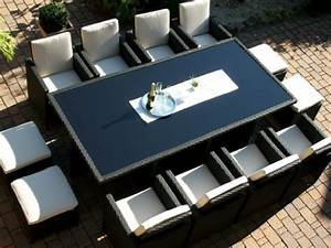Tisch Für 8 Personen : polyrattan rattan geflecht garten sitzgruppe toscana xxl ~ Whattoseeinmadrid.com Haus und Dekorationen