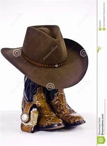 Cowboy Boots And Hat Stock Images - Image: 8645094
