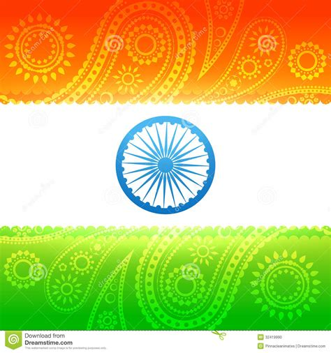 Beautiful indian flag stock vector. Illustration of