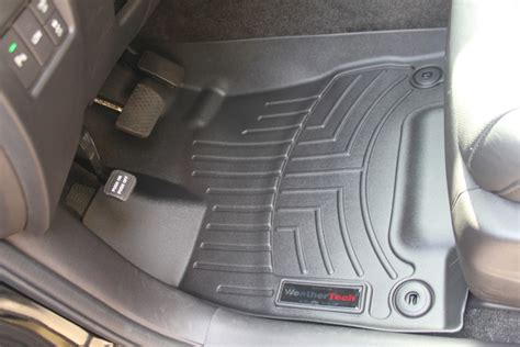 weathertech floor mats vs oem oem all weather mat vs weathertech w pics acurazine acura enthusiast community