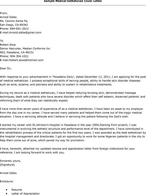Esthetician Cover Letter Sle by Pin By Topresumes On Resume Esthetician Resume
