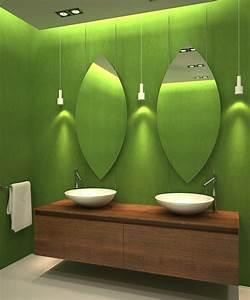 Salle de bains verte 125 idees pour vous convaincre for Meuble de rangement mural 11 salle de bains verte 125 idees pour vous convaincre