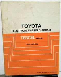 1988 Toyota Tercel Wagon Service Shop Repair Manual