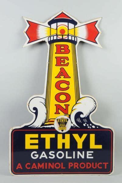beacon ethyl gasoline porcelain sign vintage concepts
