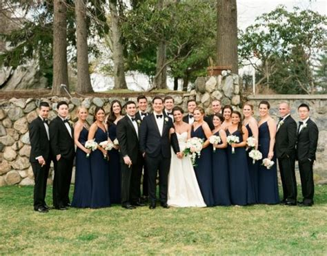 elegant navy new york wedding from lindsay madden my style navy bridal black bridal