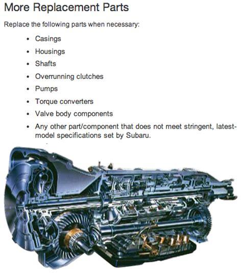 Subaru Transmission Parts by Remanufactured Subaru Automatic Transmissions Subaru Pacific