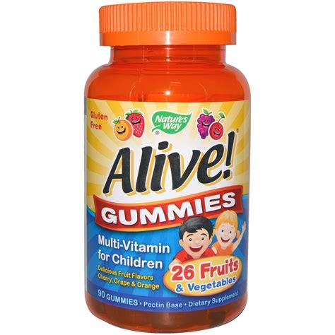 nature s way alive gummies multi vitamin for children 894   3