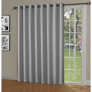 bella luna blackout maya woven blackout 108 in w x 84 in With net curtains for patio doors