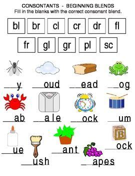 103 best images about consonant blends on
