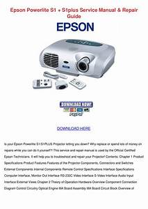 Epson Powerlite S1 S1plus Service Manual Repa By Raymond