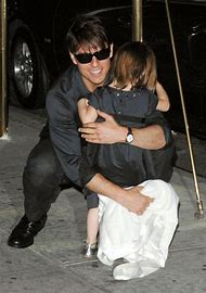 Tom and Suri Cruise His Daughter