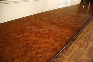 Extra Large Burl Walnut Extension Table Opens To 17ft