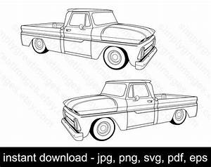 1960 1966 chevrolet c 10 svg vector c10 jpg png pdf eps etsy With 1987 chevy crew cab