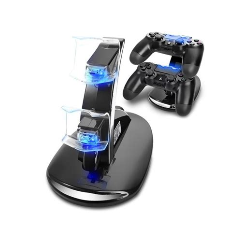 playstation  ps dual usb controller charger dock station charging stand  led