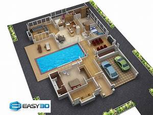 small spaces home beauty ideas 3d house plan with clear ...