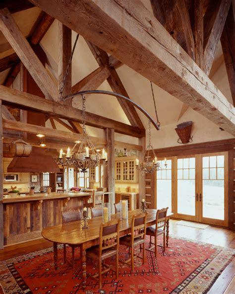 Western Homestead Ranch  Rustic  Dining Room Denver