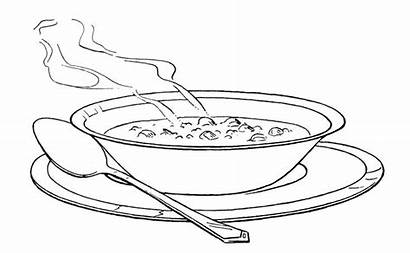 Coloring Pages Soup Warm Serving Soups Campbell