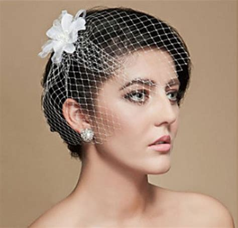Memorable Wedding Bridal Veils For Short Hair