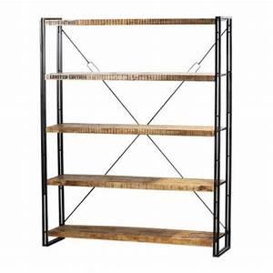 Etagere Metal Et Bois : etag re m tal et bois factory 160x40x200 mobilier ~ Teatrodelosmanantiales.com Idées de Décoration