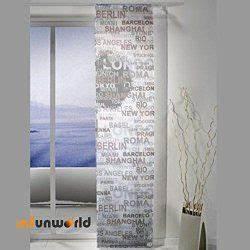 Schiebevorhang Schwarz Weiß : schiebevorhang fl chenvorhang city 57 225 cm elbersdrucke ~ A.2002-acura-tl-radio.info Haus und Dekorationen