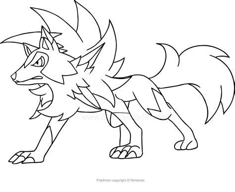immagini di pokémon da disegnare disegno di lycanroc dei da colorare