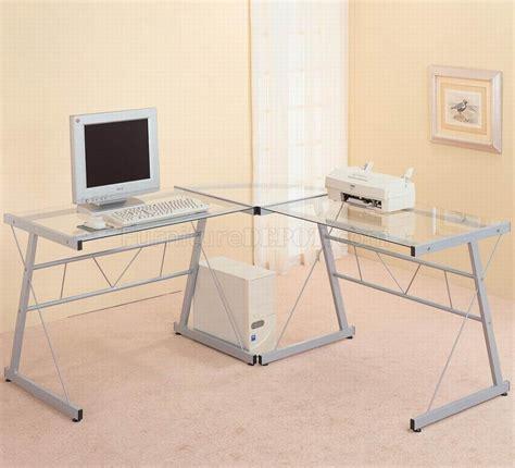 l shaped glass top desk office depot glass top silver tone metal base modern home office desk