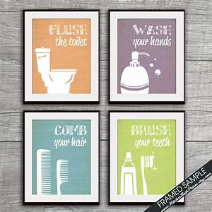 funny bathroom prints set of 4 art prints featured in With funny bathroom posters