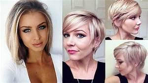 Coupe Courte Tendance 2019 : coupe de cheveux femme 2018 coiffure femme 2018 youtube ~ Dallasstarsshop.com Idées de Décoration