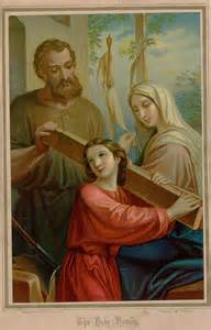 Saint Joseph and the Holy Family
