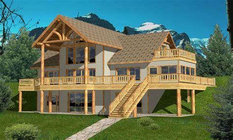 hillside cabin plans hillside house plans hillside walk out house plans lake