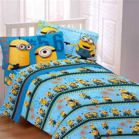 despicable me minions 3 piece flannel twin bedding sheet