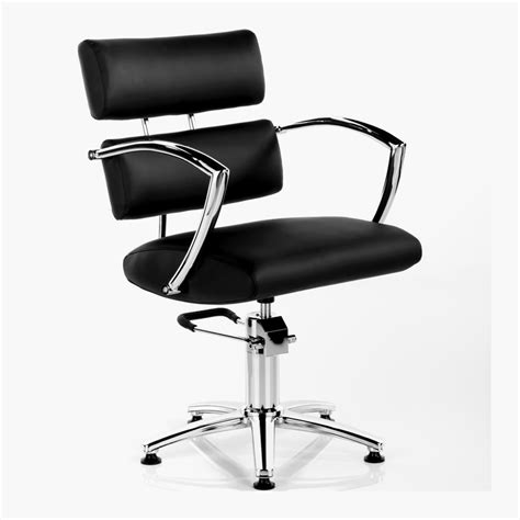 antigua hydraulic styling chair in black direct salon