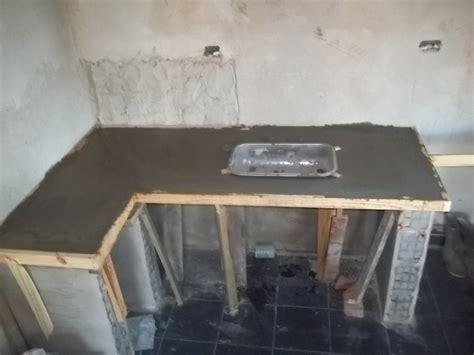 mesada dos banos  cocinas cocina de cemento cemento