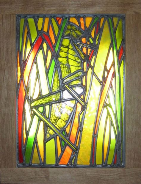 stained glass light box sophie d 39 souza stained glass grasshopper light box