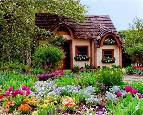 cottage landscaping colourful cottage garden ideas pinterest