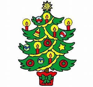 Disegno Albero di Natale con le candeline colorato da Utente non registrato il 25 di Novembre