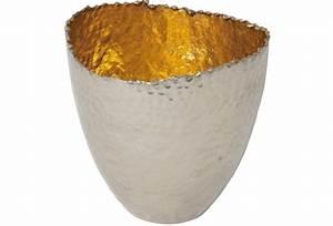 Gartenlaterne Groß Metall : holl nder windlicht rivoluzione gross metall silber vernickelt innen gold ~ Frokenaadalensverden.com Haus und Dekorationen