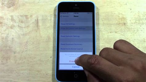 reset iphone 5c iphone 5c how to reset back to factory settings