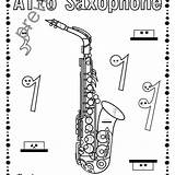 Oboe Woodwind Instruments Coloring Template sketch template