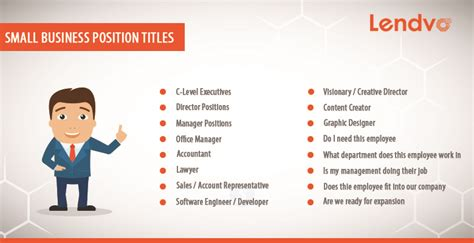 small business position titles lendvo