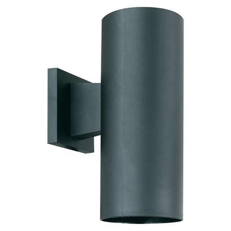lighting 1 light black outdoor wall mount cylinder
