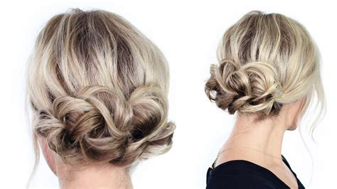 basic hair styles simple updo hairstyle simple updo