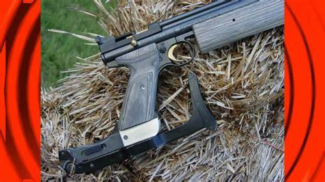 folding stock adapted   crosman  air pistol youtube
