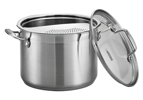 tramontina stainless steel pasta cooker  quart cutlery