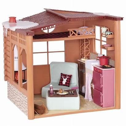 Cabin Cozy Generation Doll Playset Dollhouse Furniture