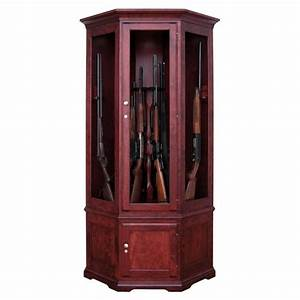 Black Forest 14 Gun Corner Cabinet Amish Made Corner Gun