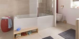 Prix Baignoire Avec Porte : baignoire douche le 2 en 1 dans la salle de bains ~ Edinachiropracticcenter.com Idées de Décoration